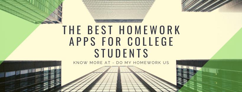 Homework Apps